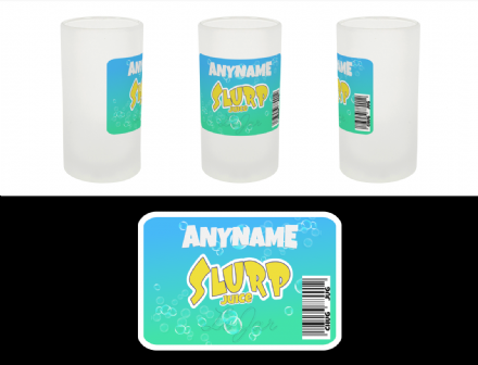 Slurp Juice Chug Jug Personalised Fortnite Label Sticker